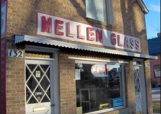Mellens Glass Store Front